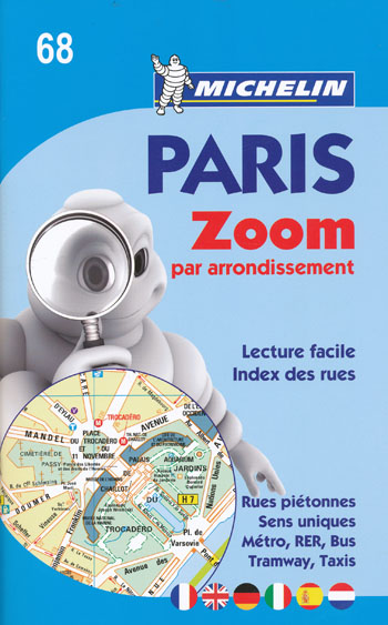 Paris Zoom Map Booklet 68 Michelin