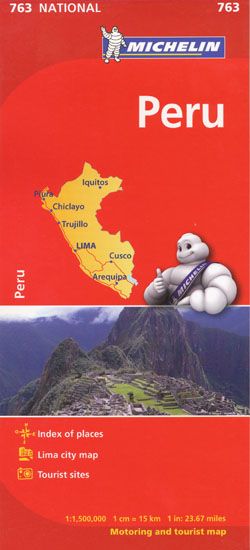 Peru Map 763 Michelin