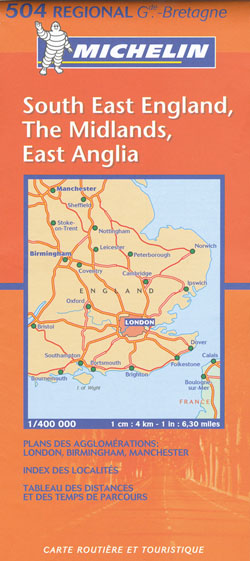 South East England Map 504 Michelin