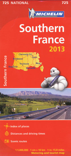 Southern France Map 725 Michelin 2013