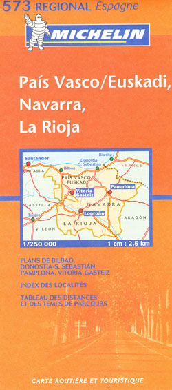Spain North Central Map 573 Michelin