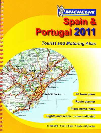 Spain Portugal Tourist and Motoring Atlas Michelin 2011