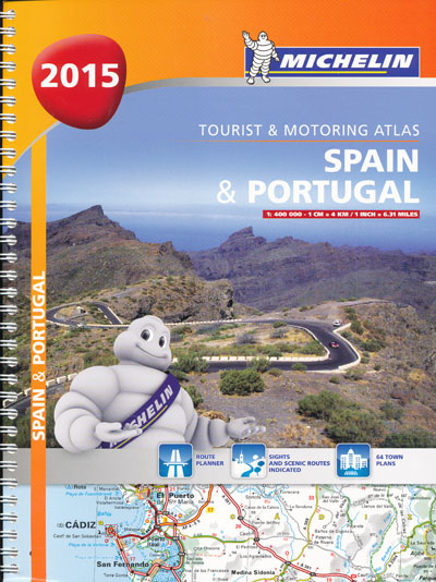Spain Portugal Tourist Motoring Atlas Michelin 2015