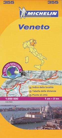 Veneto Map 355 Michelin
