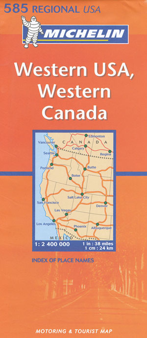 USA Western Canada Western Map 585 Michelin