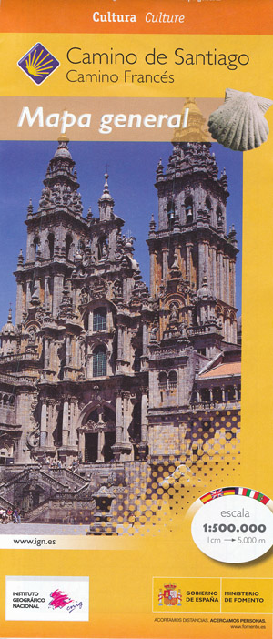 Camino de Santiago France Map Mapa General