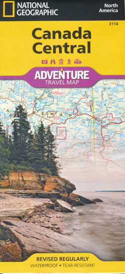Canada Central Map National Geographic Folded