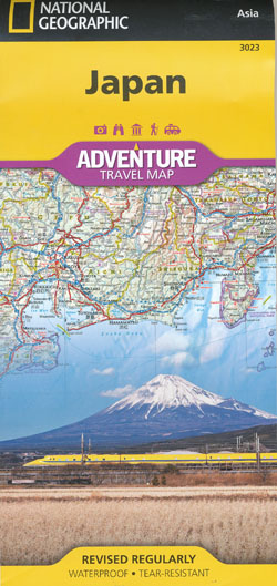 Japan Map National Geographic Folded