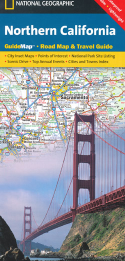 Northern California Map National Geographic Folded