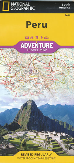 Peru Adventure Travel Map National Geographic Folded