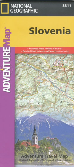 Slovenia Adventutre Map National Geographic
