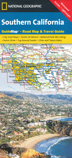 Southern California Map National Geographic Folded
