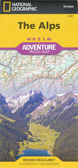 Alps Adventure Travel Map National Geographic Folded