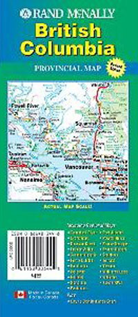 British Columbia Map Rand McNally