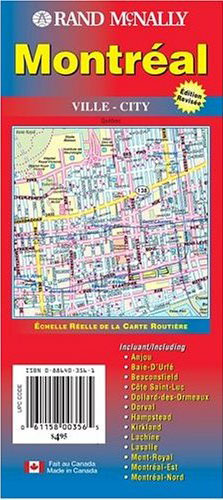 Montreal Map Rand McNally