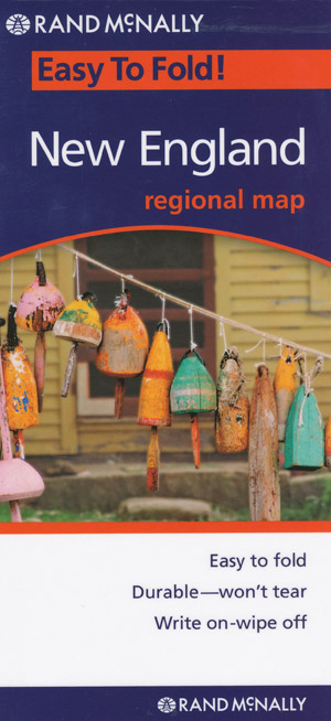 New England Easy to Fold Map Rand McNally