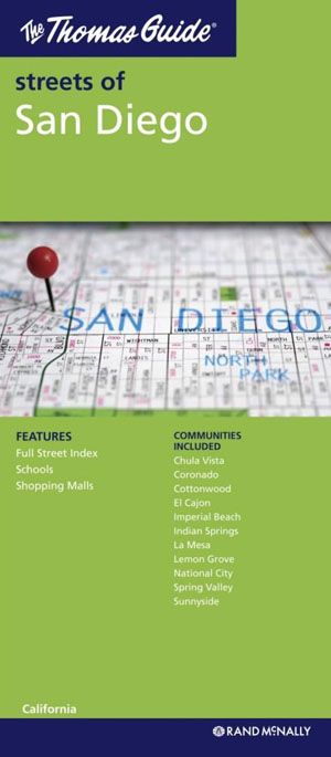 San Diego City Map Rand McNally