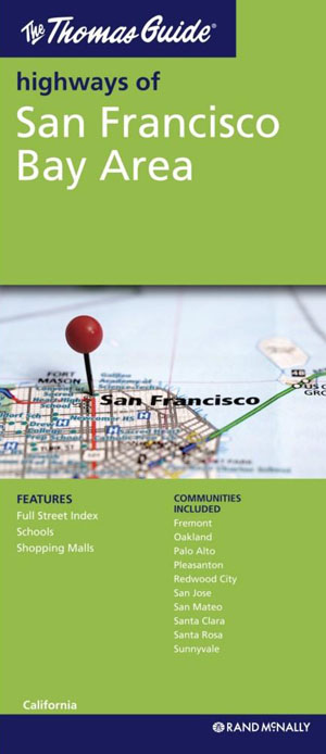 San Francisco Bay Area Map Rand McNally