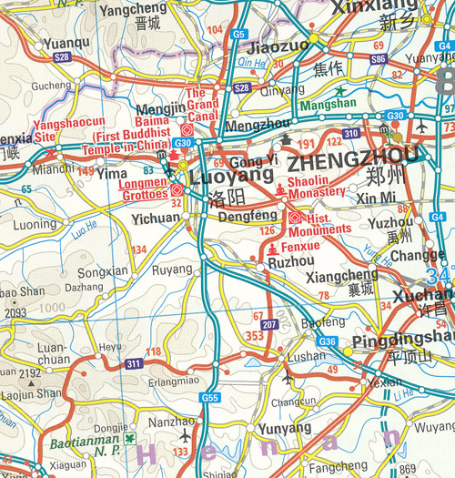 China West Map Reise