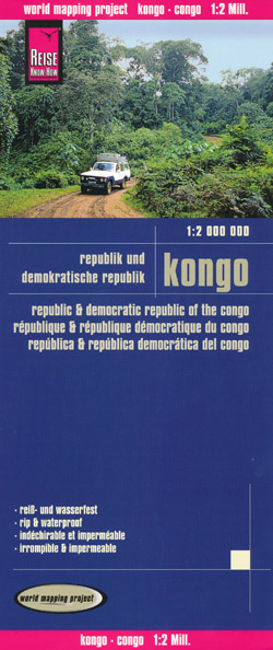 Congo Republic and Democratic Republic of Congo Map Reise