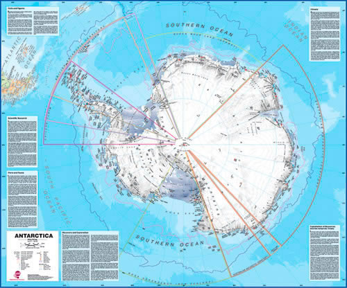 Antarctica Maps International Laminated