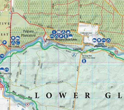 Great South West Walk and Lower Glenelg Map Meridian and Catographics