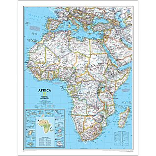 Africa Large National Geographic Laminated