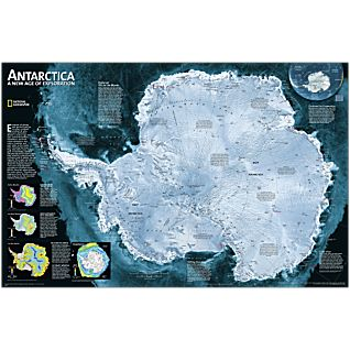 Antarctica National Geographic Laminated