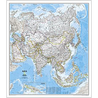 Asia National Geographic Laminated