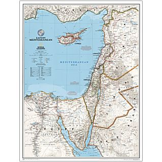 Eastern Mediterranean National Geographic Laminated