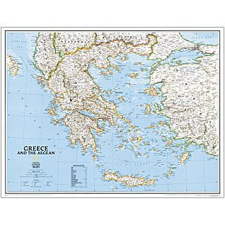 Greece National Geographic Laminated