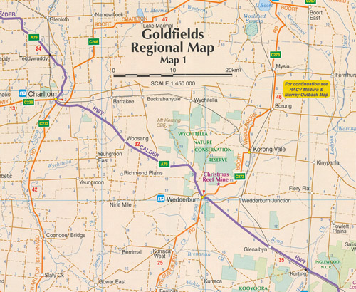 Goldfields Map RACV