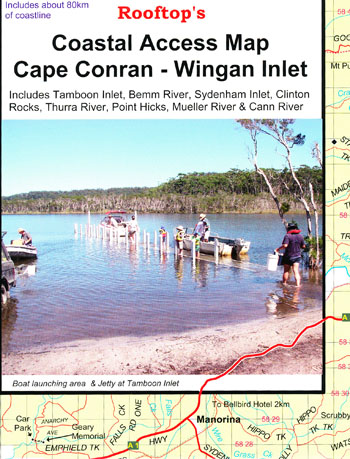 Cape Conran Wingan Inlet Coastal Access Map Rooftop