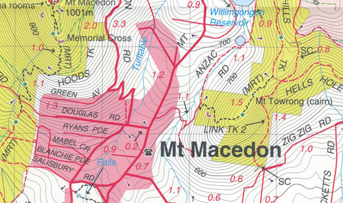Macedon Ranges Forest Activities Map Rooftop
