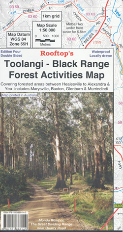 Toolangi Black Range Forest Activities Map Rooftop Waterproof