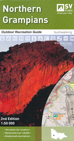 Northern Grampians Outdoor Recreation Guide Map Spatial Vision Laminated