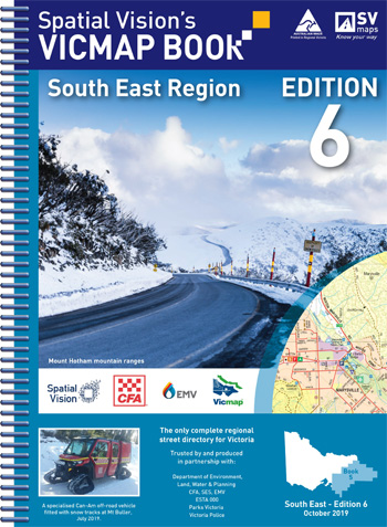 Vicmap South East Region Map Book Spatial Vision