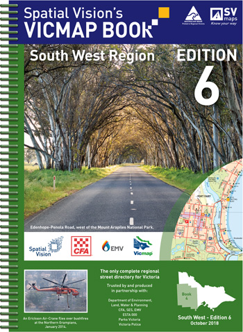 Vicmap South West Regional Map Book Spatial Vision