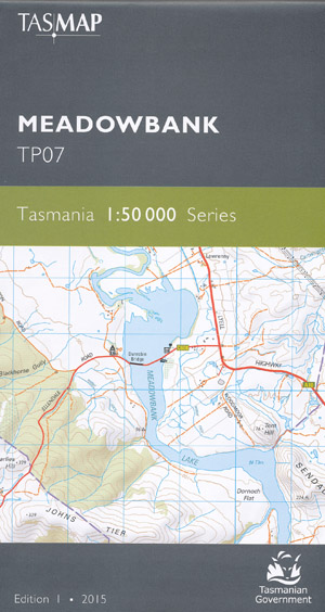 Meadowbank 1-50,000 Map Tasmap