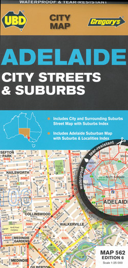 Adelaide City Streets and Suburbs Map 562 UBD Gregorys
