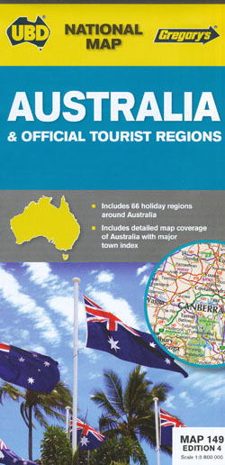 Australia Official Tourist Regions Map 149 Edition 4 UBD Gregorys