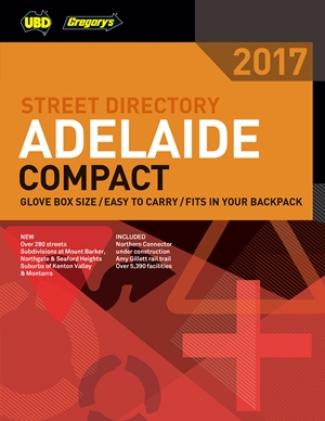 Adelaide Compact Street Directory UBD Gregorys