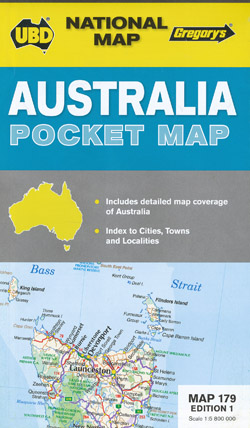 Australia Pocket Map UBD Gregory's