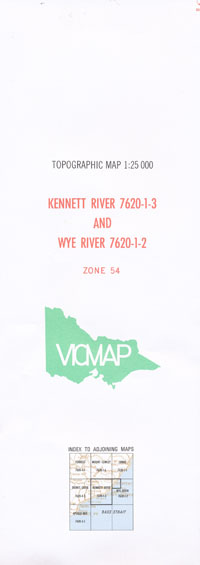 Kennet River 1-25,000 Vicmap