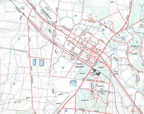 Stawell South 1-25,000 Vicmap