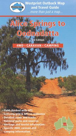 Alice Springs Oodnadatta Map Westprint