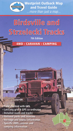 Birdsville and Strzelecki Tracks Map Westprint