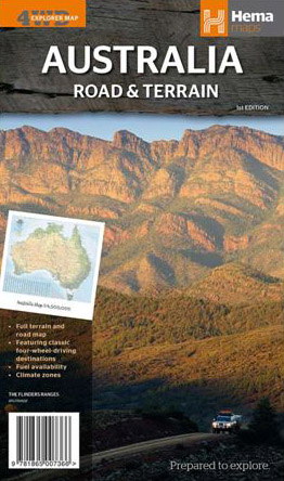 Australia Road and Terrain Map Hema