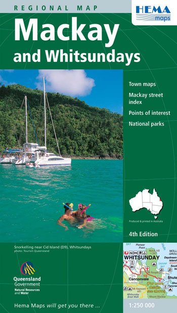 Mackay and the Whitsundays Map Hema