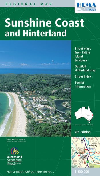 Sunshine Coast and Hinterland Map Hema